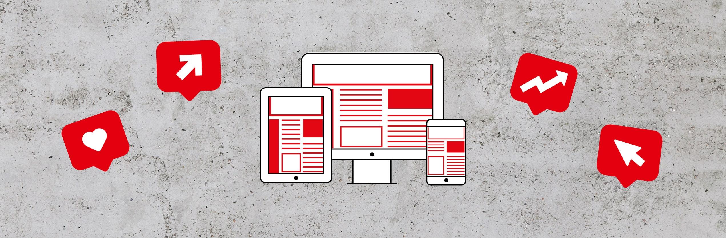 Blog Online Banner Icons